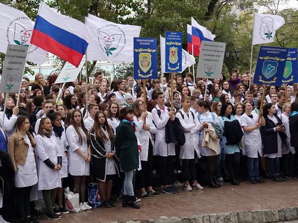 Валентин Шуматов, посвящение в студенты, ТГМУ