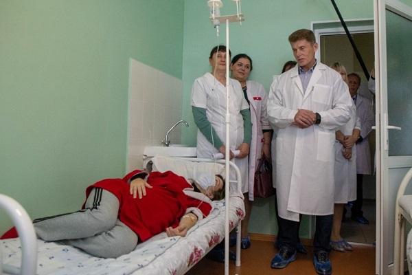 Лазовская центральная районная больница, Лазовская ЦРБ, модернизация, Олег Кожемяко, Преображенье
