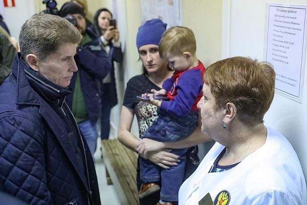 Большой Камень, Олег Кожемяко, проблемы здравоохранения, строительство ЛПУ